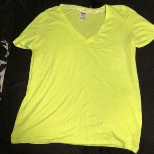 Bright yellow shirt